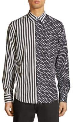 Givenchy Striped& Animal Print Shirt