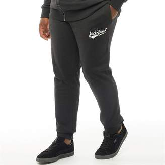Jack and Jones Originals Mens Plus Size Mills Comfort Fit Sweat Pants Black