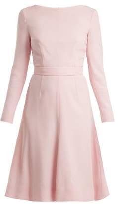 Emilia Wickstead Kate A Line Wool Crepe Dress - Womens - Light Pink