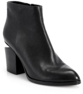 Alexander Wang Gabi Leather Block Heel Booties