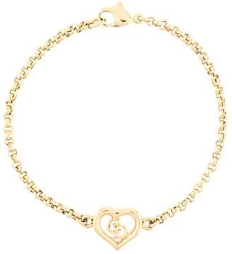 Christian Dior Pre-Owned cut-out heart logo pendant bracelet