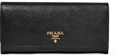 prada Prada - Textured-leather Continental Wallet - Black