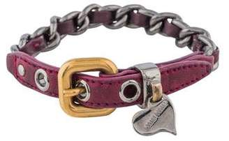 Miu Miu Leather and Chain Wrap Bracelet