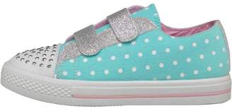 Board Angels Girls Polka Dot Print Pumps Mint/Pink