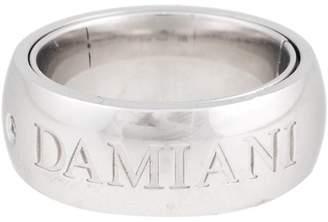 Damiani 18K White Gold Orbital 0.02ct. Diamond Ring Size 6.5