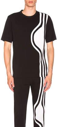 Yohji Yamamoto Y 3 Y-3 3 Stripes SS Tee in Black | FWRD