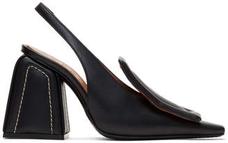 Marni Black Contrast Stitch Pumps