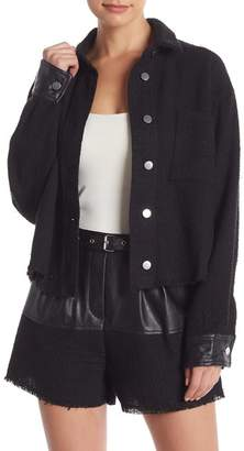 Do & Be Do + Be Tweed Faux Leather Detailed Jacket