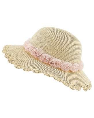 Monsoon Ianthe Chiffon Flower Flopy Hat