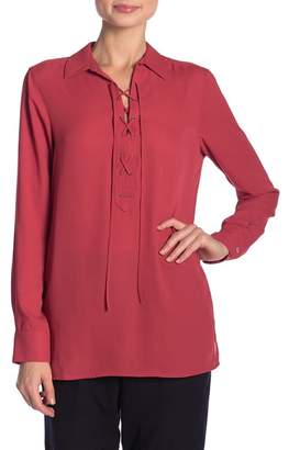 Foxcroft Leah Lace-Up Shirt