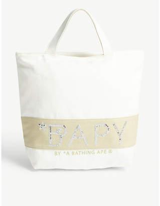 BAPY Canvas sequin-embellished tote bag