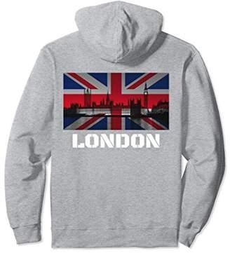 Souvenir London Hoodie City Vintage UK Flag British Hoody