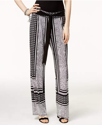 INC International Concepts Printed Wide-Leg Soft Pants, Only at Macy's $69.50 thestylecure.com