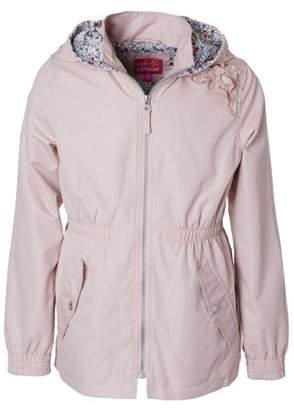 Pink Platinum Sueded Ruffled Hooded Anorak Jacket (Little Girls & Big Girls)