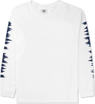 Mark McNairy For Heather Grey Wall White Trill These Print L/S T-Shirt