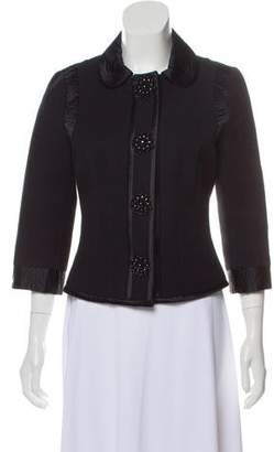 Andrew Gn Textured Embellished Jacket