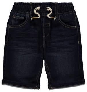 George Navy Blue Denim Look Jersey Feel Shorts