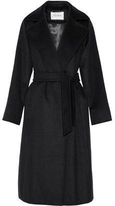 Max Mara - Belted Camel Hair Coat - Midnight blue $2,690 thestylecure.com