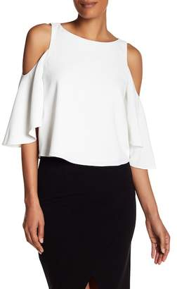 Alice + Olivia Coralee Cold Shoulder Top