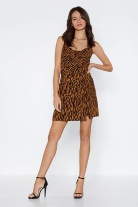 Nasty Gal Cowl About Zebra Dress