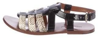 Dolce & Gabbana Snakeskin Cage Sandals