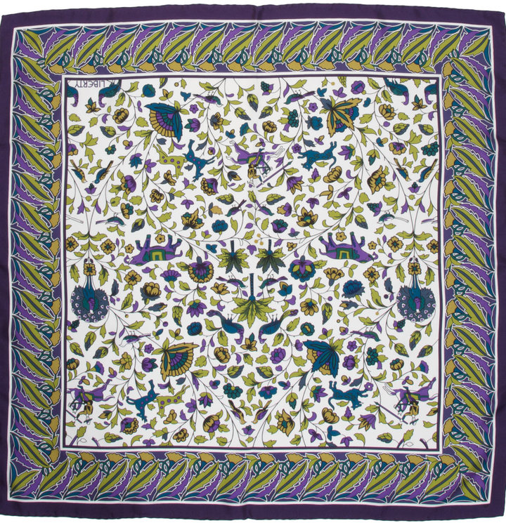 Olive Imran Silk Twill Scarf, Liberty of London