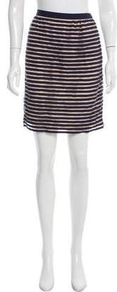 Lela Rose Striped Mini Skirt