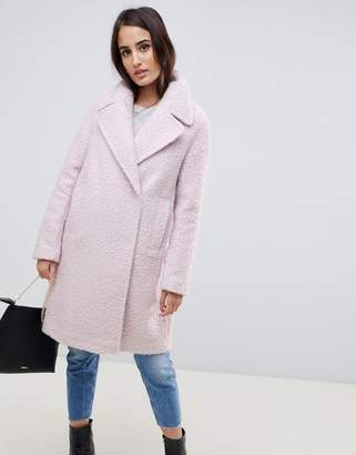 Asos DESIGN oversized textured pastel coat