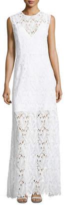 Diane von Furstenberg Sleeveless High-Neck Fluid Dress