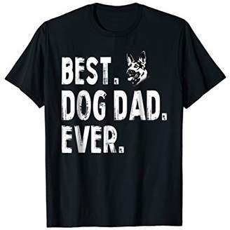 DAY Birger et Mikkelsen German Shepherd Best Dog Dad Ever Funny Father's t shirt