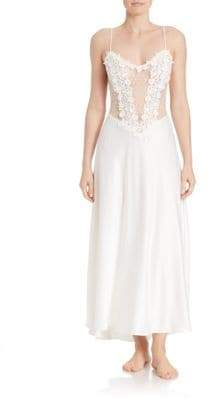 Flora Nikrooz Sleeveless Charmeuse Nightgown