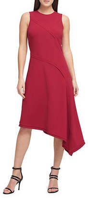 DKNY Seamed Asymmetrical Hem Dress