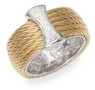 Alor 18K Gold & Stainless Steel Diamond Band Ring