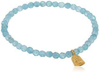 Satya Jewelry Angelite Gold Plated Tree of Life Stretch Bracelet