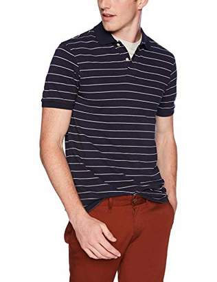 J.Crew Mercantile Men's Striped Pique Polo Shirt