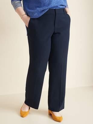 Old Navy Mid-Rise Secret-Slim Pockets + Waistband Plus-Size Slim-Flare Pants