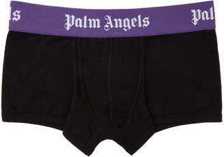 Palm Angels Black and Purple Iconic Trunk Boxers