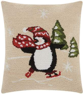 Original Penguin Mina Victory Home for the Holidays Skating Penguin Throw Pillow