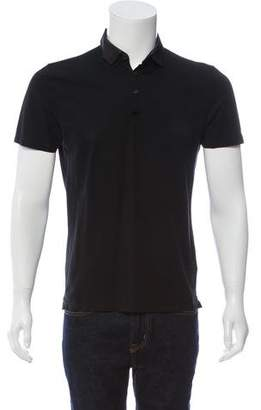 Lanvin Woven Short Sleeve Polo Shirt