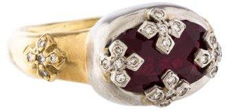 Loree RodkinLoree Rodkin Ruby & Diamond Two-Tone Ring