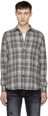 Saint Laurent Grey Plaid Shirt