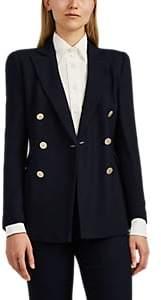 Giorgio Armani Women's Knit Double-Breasted Blazer - Navy