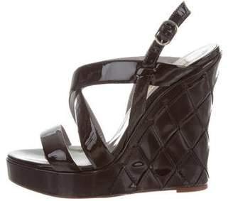 Valentino Quilted Platform Wedges