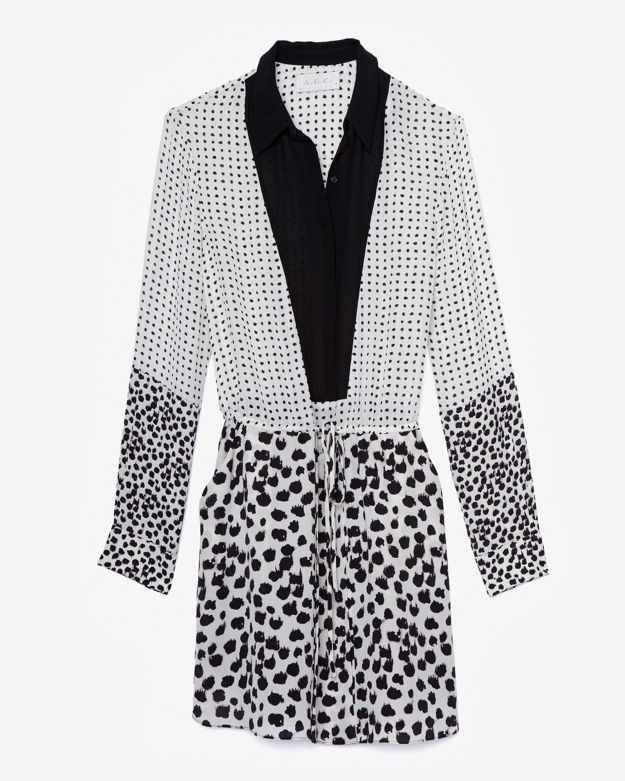 A.L.C. Elison Mixed Print Dress