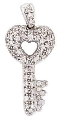 18K Diamond Key Pendant white 18K Diamond Key Pendant