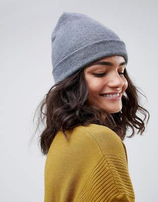 1fdca31d8de Asos Design DESIGN turn up beanie in recycled polyester