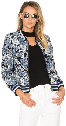BLANKNYC Floral Bomber Jacket $128 thestylecure.com