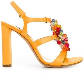 Casadei bead embellished sandals