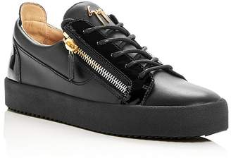 Giuseppe Zanotti Men's Leather Low-Top Sneakers