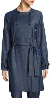 HUGO BOSS Calrehna Denim Trench Coat